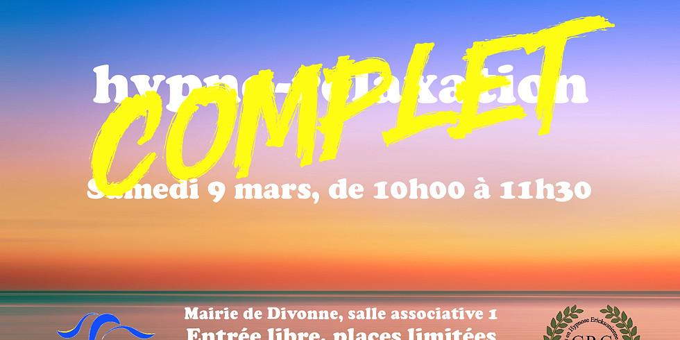 Hypno-relaxation le 9 mars à Divonne-les-bains