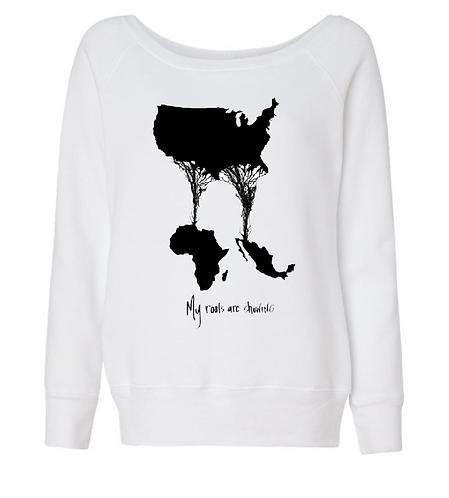 Split Heritage- Off the shoulder Sweater