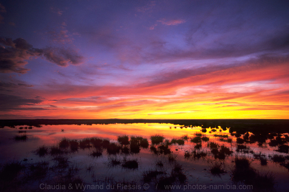 Amazing sunsets await you in the rainy season in Namibia