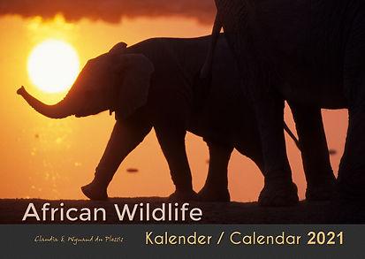 African Wildlife Calendar 2021 A3 size wall calendar