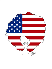 American FLag in Afro