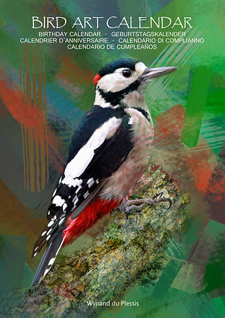 Bird Art Calendar - Photo Art Calendar