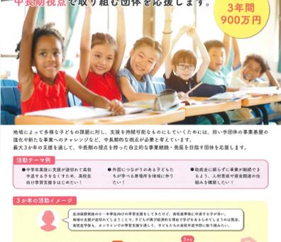 ベネッセこども基金より子どもの学び支援活動助成の案内です。