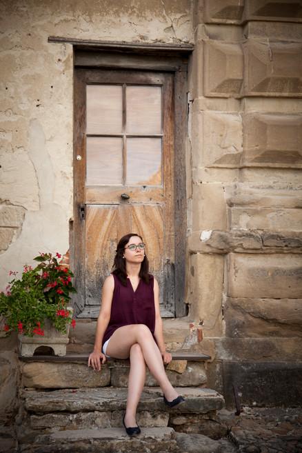 portrait femme extérieur
