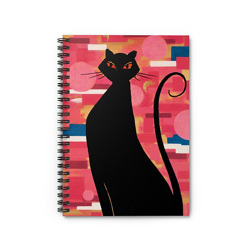 """""""The Cat Who Caught The Canary"""" Spiral Notebook - Ruled Line"""