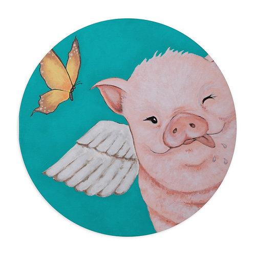 """Porkchop"" The Flying Pig Mouse Pad"