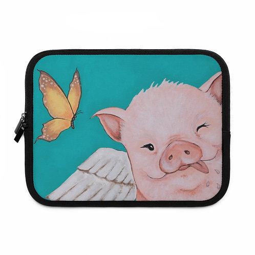 """""""Porkchop"""" The Flying Pig Laptop Sleeve"""