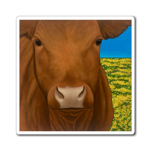 """""""Morning!"""" Brown Cow Magnets"""