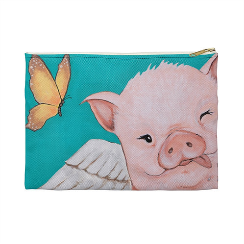 """""""Porkchop"""" The Flying Pig Accessory Pouch"""