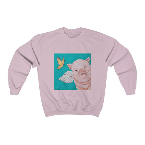 """Porkchop"" The Flying Pig Unisex Heavy Blend™ Crewneck Sweatshirt"