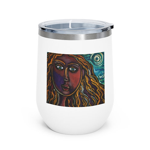 """""""Oh, Muse of My Heart"""" 12oz Insulated Wine Tumbler"""