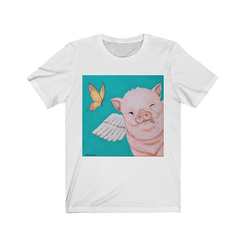 """Porkchop"" The Flying Pig Unisex Jersey Short Sleeve Tee"
