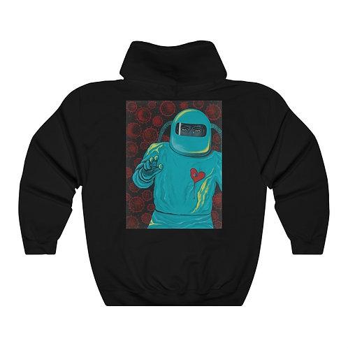 """SEPARATION"" Unisex Heavy Blend™ Hooded Sweatshirt with Image on Back"