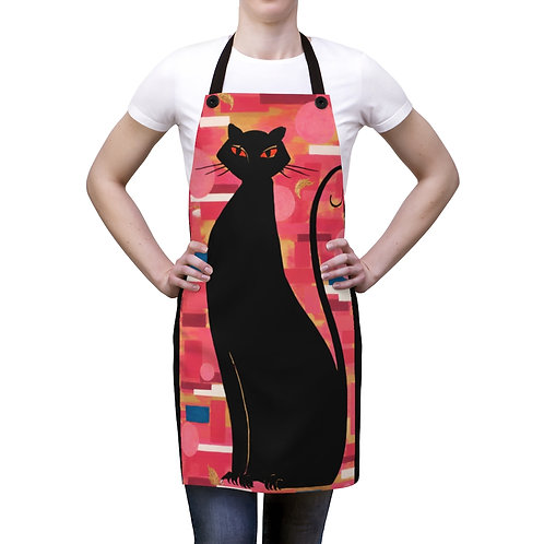 """""""The Cat Who Caught The Canary"""" Apron"""