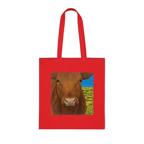 """""""Morning!"""" Brown Cow Cotton Tote"""