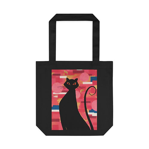 """""""The Cat Who Caught The Canary"""" Cotton Tote Bag"""