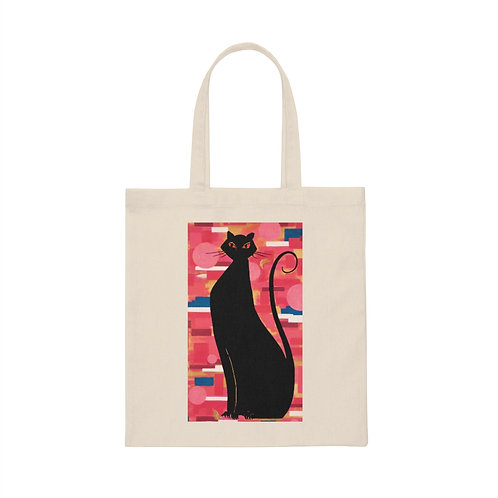 """""""The Cat Who Caught The Canary"""" Canvas Tote Bag"""