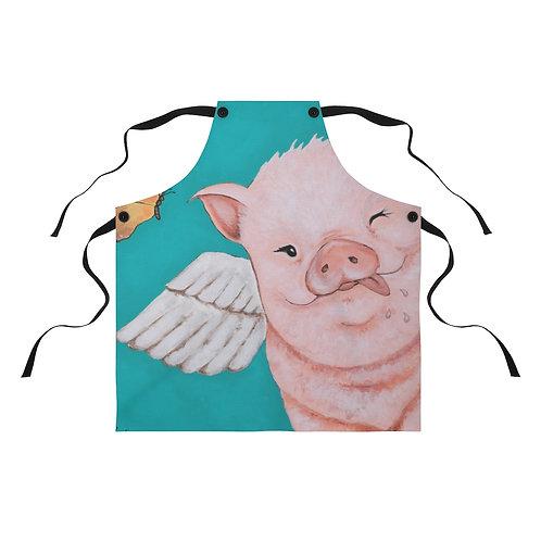 """""""Porkchop"""" The Flying Pig Apron"""