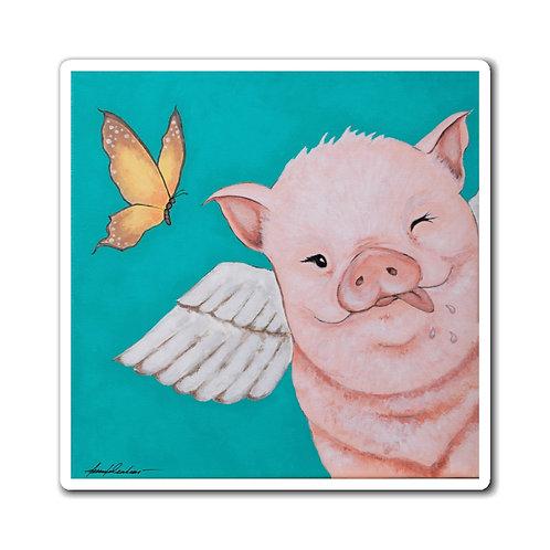 """""""Porkchop"""" The Flying Pig Magnets"""
