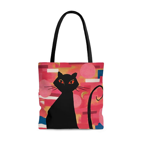 """""""The Cat Who Caught The Canary"""" AOP Tote Bag"""