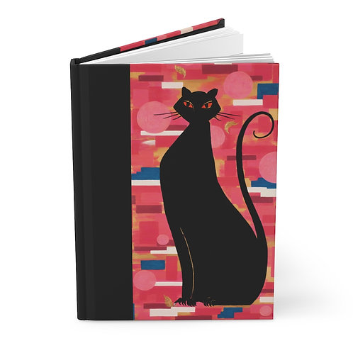 """""""The Cat Who Caught The Canary"""" Hardcover Journal Matte"""