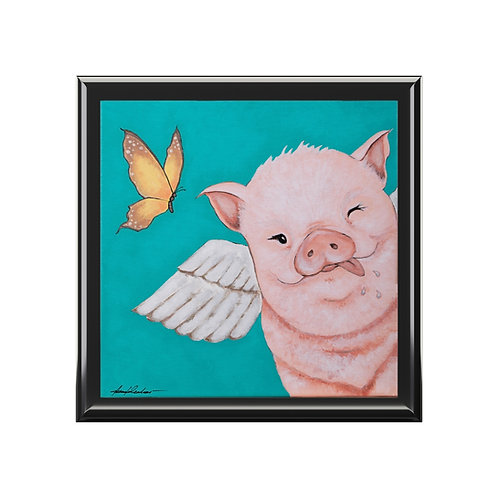 """""""Porkchop"""" The Flying Pig Jewelry Box"""