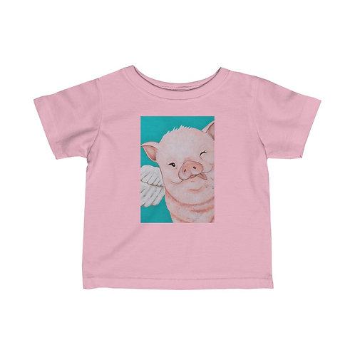 """""""Porkchop"""" The Flying Pig Infant Fine Jersey Tee"""