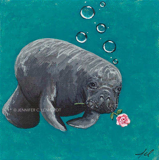 Rosy The Manatee - Baby Rosette