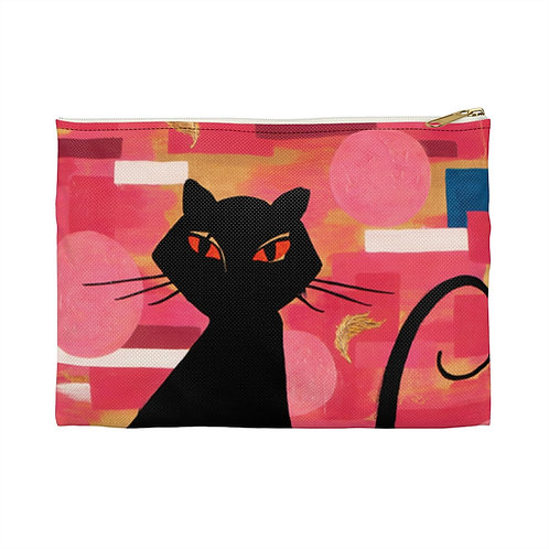 """""""The Cat Who Caught The Canary"""" Accessory Pouch"""