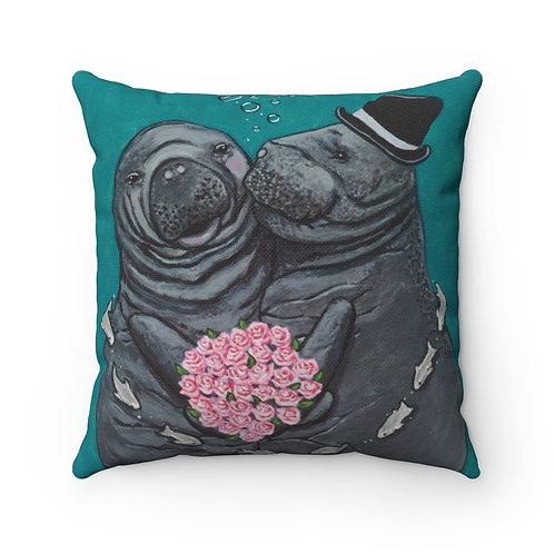 """""""You Make Me Blush!"""" Spun Polyester Square Pillow Case"""