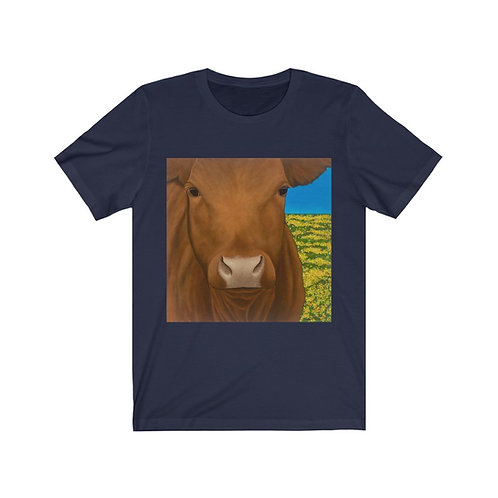 """""""Morning!"""" Brown Cow Unisex Jersey Short Sleeve Tee"""