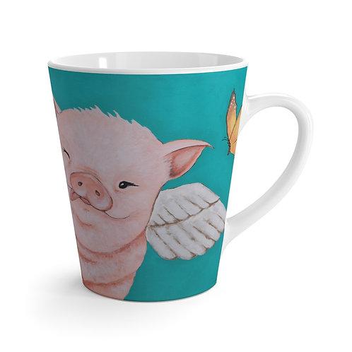 """'Porkchop"""" The Flying Pig 12 oz. Latte Mug"""