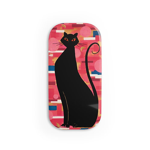 """""""The Cat Who Caught The Canary"""" Phone Click-On Grip"""