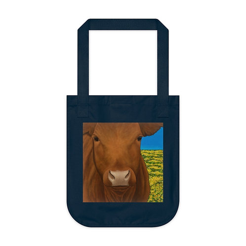 """""""Morning!"""" Brown Cow Organic Canvas Tote Bag"""