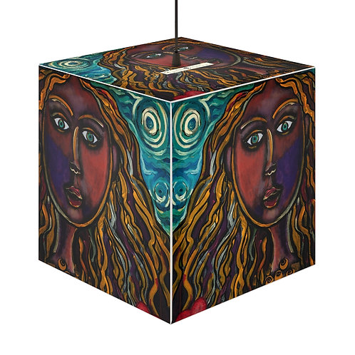 """""""Oh, Muse of My Heart"""" Cube Lamp"""