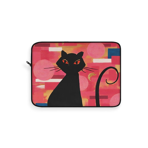 """""""The Cat Who Caught The Canary"""" Laptop Sleeve"""