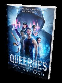 Cover of YA LGBTQ superhero novel by Steven Bereznai.