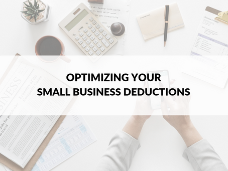 Optimizing Your Small Business Deductions