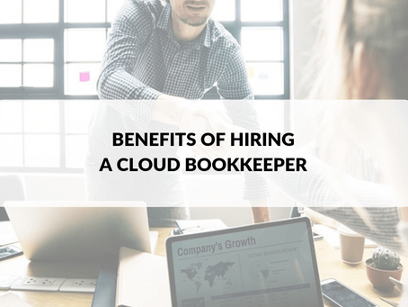 Benefits of Hiring a Cloud Bookkeeper