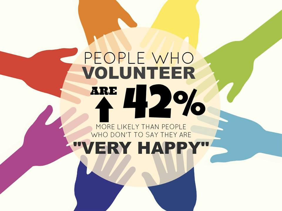 Volunteering can help make make a difference and bring a little happiness to all involved.