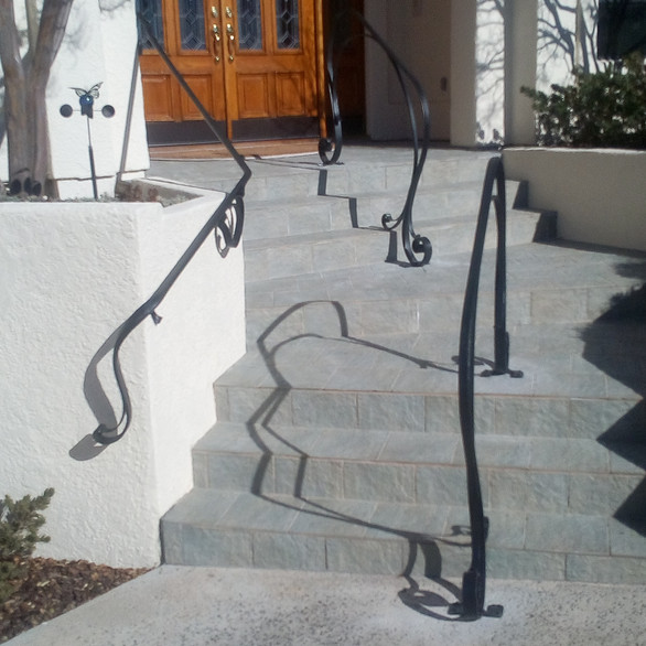 private residence, railing