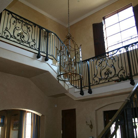 Private residence interior railing