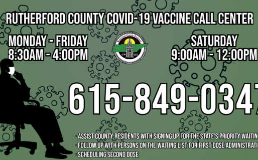 Rutherford County Introduces Covid Vaccine Call Center