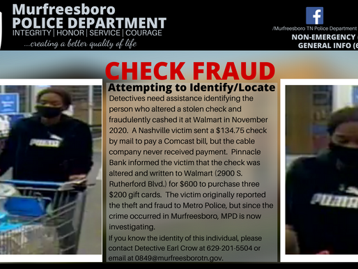 Nashville Check Fraud
