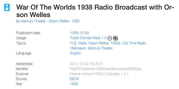 War Of The Worlds 1938 Radio Broadcast w
