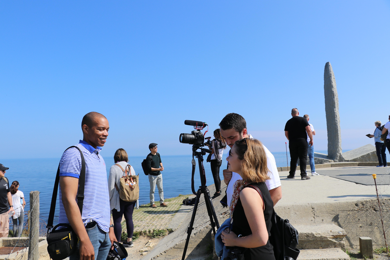 Interview at Pointe du Hoc