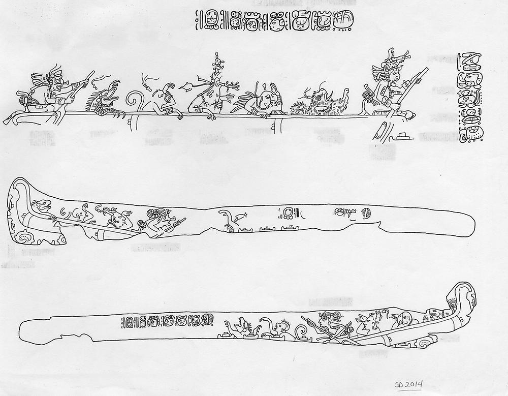 disegno di Linda Schele, studiosa del sito di Tikal