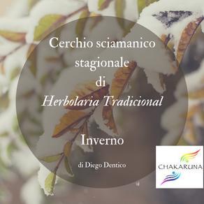 Cerchio sciamanico stagionale di herbolaria tradicional - l'inverno