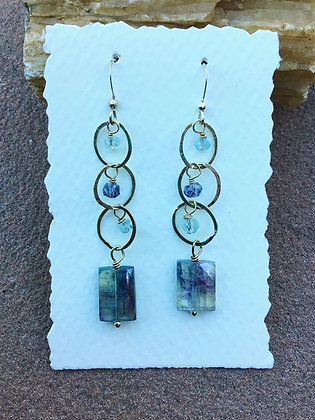 Oceans of Neptune Kyanite Earrings