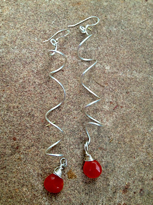With a Twist Earrings with Carnelian